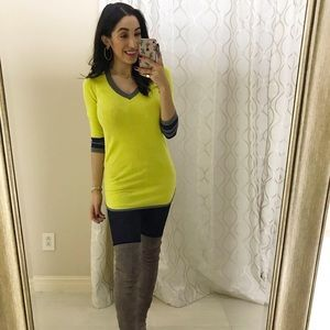 Lime green sweater size S